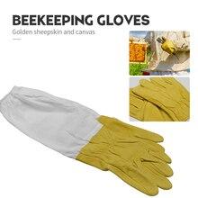 Перчатки для пчеловодства, защитные рукава, вентилируемые, профессиональные, анти пчеловодство, улей, желтые перчатки для пчеловодства