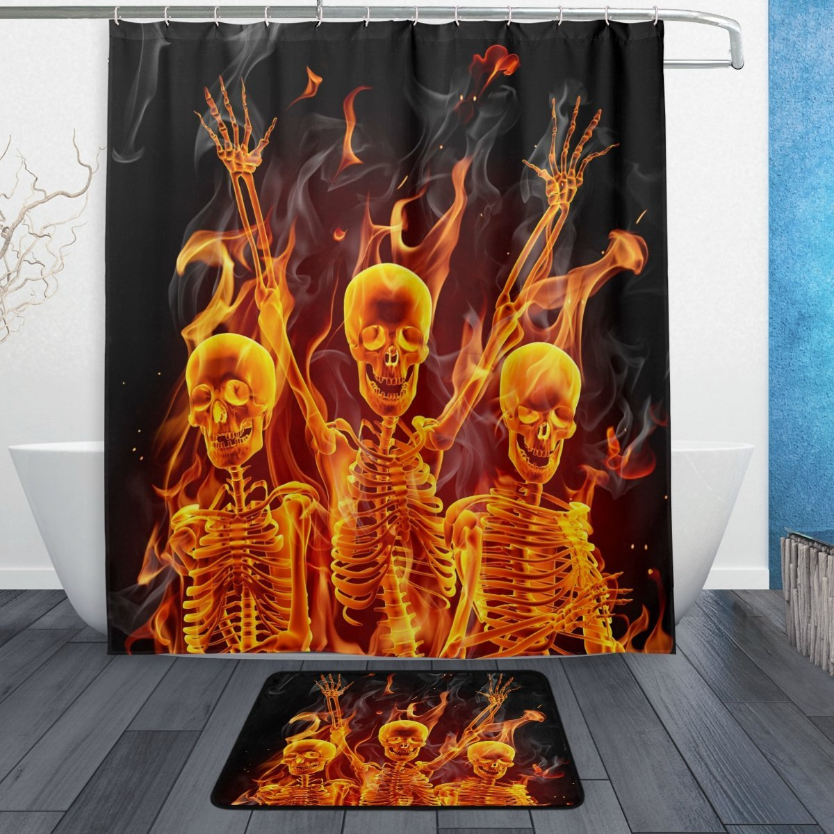 Buy Skeleton Shower Curtain And Get Free Shipping On AliExpress