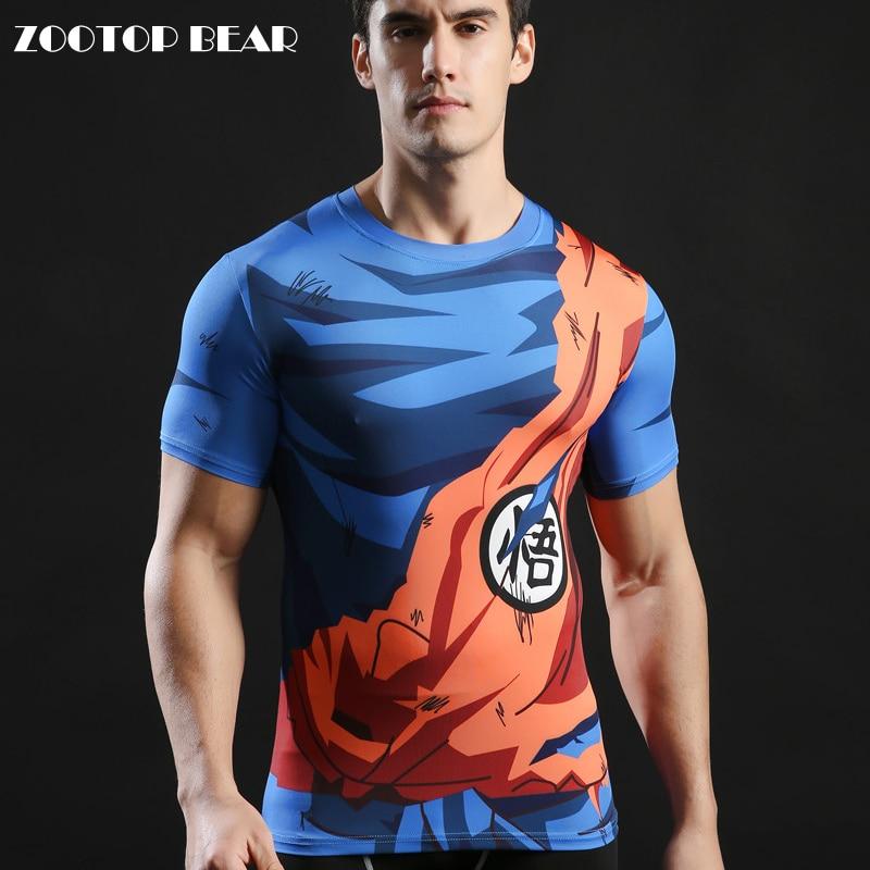 93fa7c1523 Dragon ball Tops 3D Impresso Camisetas Homens T-shirt Dragon ball 2017  Novidade Streetwear Moda camiseta De Compressão de Fitness ZOOTOP URSO