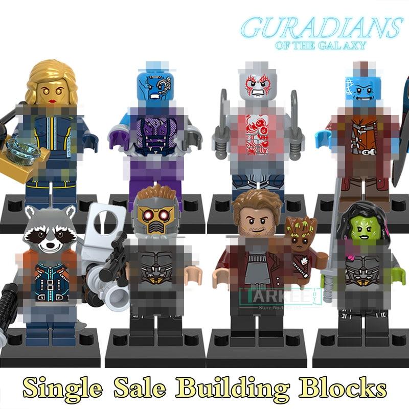 X0159 Building Blocks Figures Star-Lord Nebula Yondu Drax the Destryer Guardians of the Galaxy Models Super Hero Bricks Toys