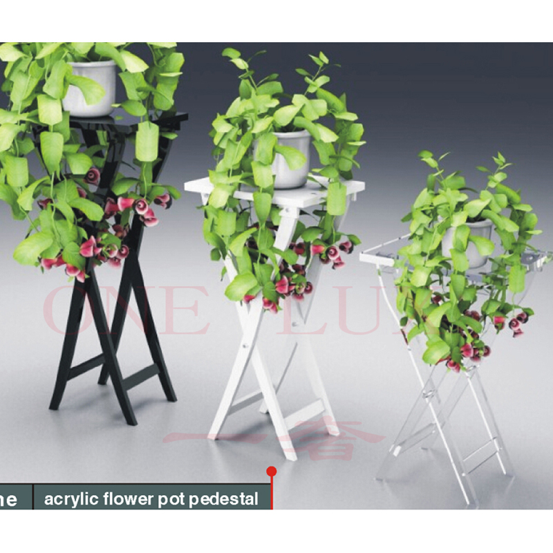 Collapsible Lucite Acrylic Console Table,Plexiglass Wedding Floral Pedestal  Stand,Folding Perspex Corner Sculpture Tables