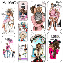MaiYaCa Mom and baby GIRL LOVE New High Quality Multi Luxury phone case for samsung  note 3 note4 note5 note8 note9 case