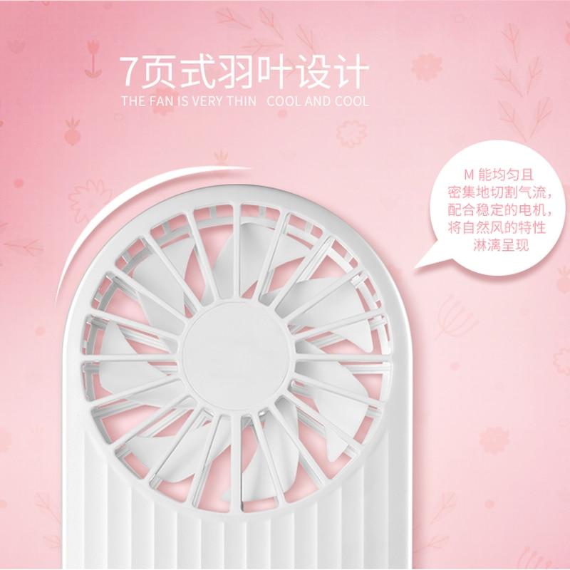 Mini ventilateur portatif portatif USB ventilateur étudiant Rechargeable transporter circulateur d'air - 4