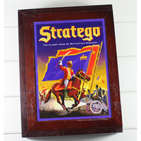 Stratego Chess Games Wooden Chess Set Classical Puzzle Board Game Sports Entertainment With Wooden Box