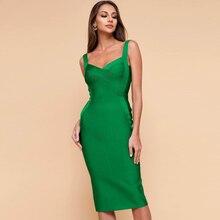 d35fda73ee22d Yeni Varış Moda Yeşil Kolsuz Spagetti Kayışı Seksi Katı Kulübü Parti Elbise  Kıyafeti Rahat Resmi Zarif Elbiseler Toptan