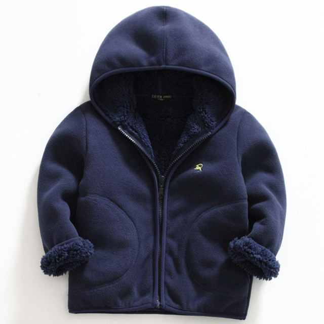 New Spring Autumn Polar Fleece Soft Jacket Coat For Kids Boys Girls Solid Color Long Sleeve Active Outerwear Children Clothes