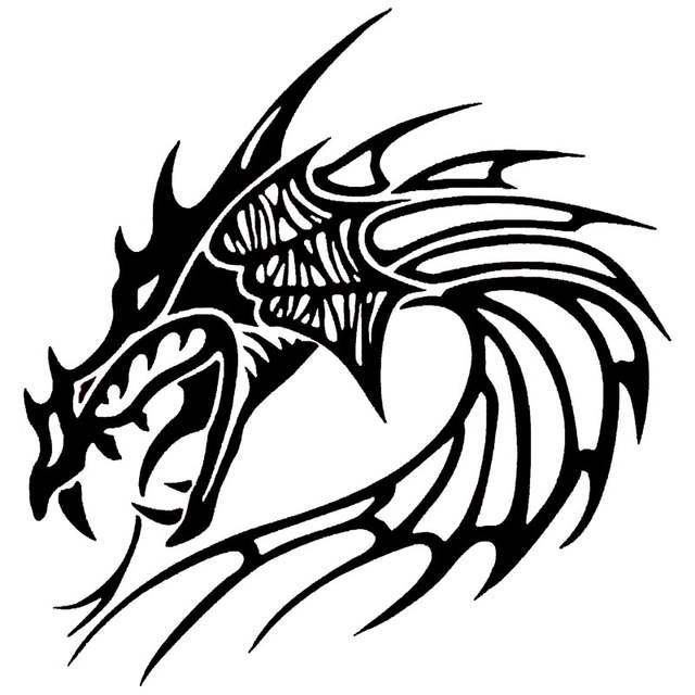 Online Shop 20 321cm Cool Chinese Dragon Head Car Door Stickers