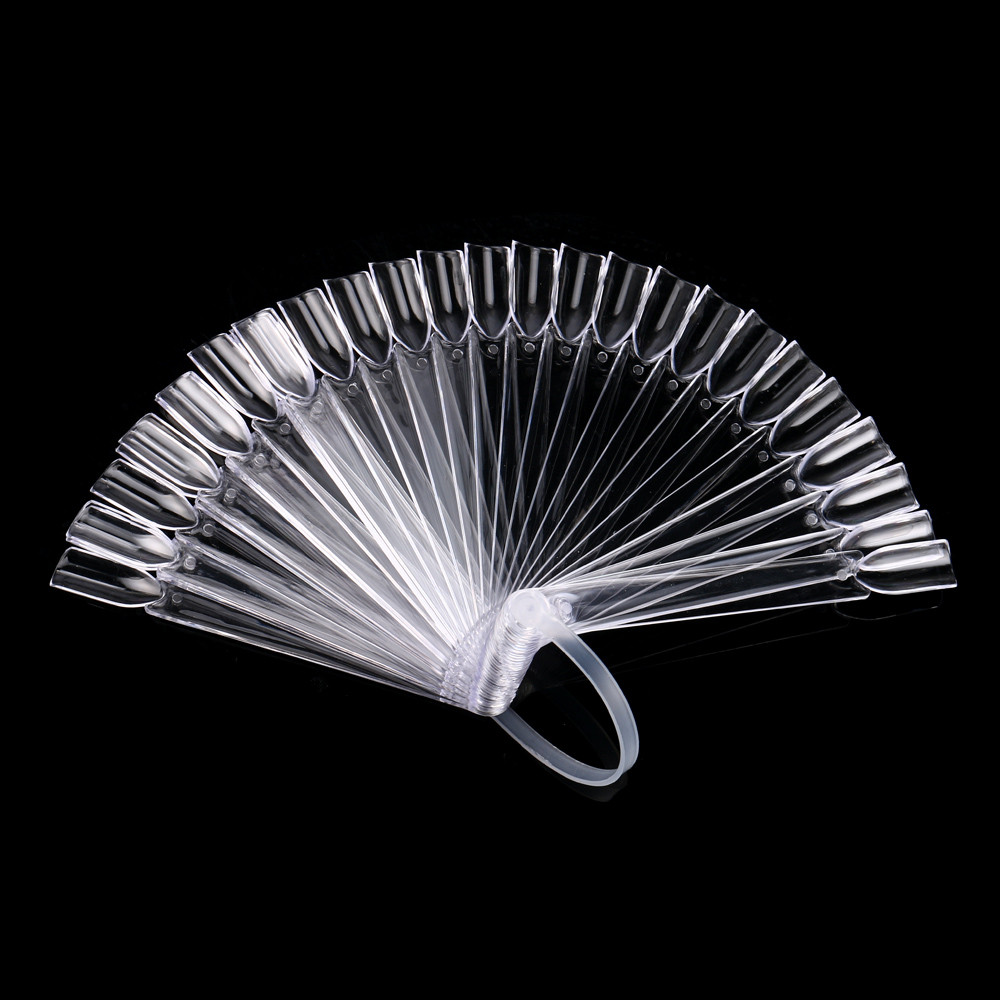 Manicure-Tool Stick-Display Wheel-Polish Fan-Shaped False-Tips Nail-Art Clear 32pcs Uv-Gel-Practicetransparent