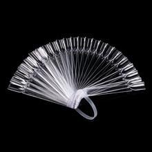 32 PCS Nail art Stick Display Klar Fan Shaped Falsche Tipps Rad Polnischen UV Gel PracticeTransparent Faltbare Maniküre Werkzeug 9,6