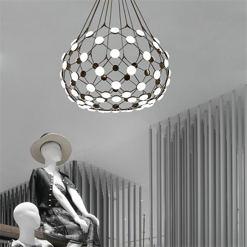 Moderne Schwarz Schach Stück LED Anhänger Lichter Globus Anhänger Lampe Leuchte Weiß Acryl Lampenschirm Wohnzimmer Leuchten