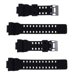 16 мм резинки Ремешки для наручных часов мужские черные спортивные для дайвинга силиконовые часы ремешок для G-SHOCK