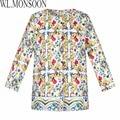 Girls Clothes Enfant Manteau Femme 2017 Brand Children Outerwear Baby Girls Jacket and Coats Majolica Print Kids Coats for Girls