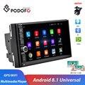 Podofo 2 din Android автомобильный Радио wifi gps автомобильный мультимедийный плеер 2 DIN радио для VW Volkswagen Nissan Toyota Kia hyundai Авторадио