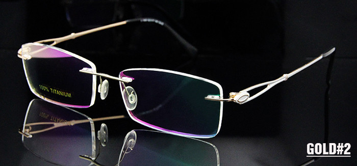 Titanium Rimless Glasses Women (3)