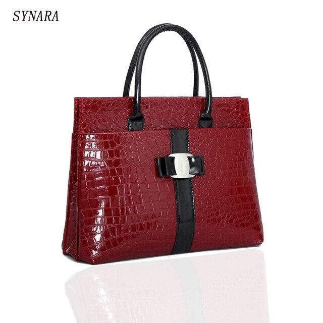 31a006ccc5 SYNARA New Luxury OL Lady bags handbags women famous brands Crocodile  Pattern Hobo Handbag Tote Fashion