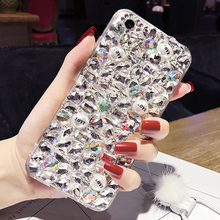 Bling cristal de diamant coque capa case pour samsung galaxy core 2 g355h grand prime g530 grand 2 g7102 grand neo case perle Fundas