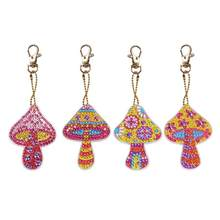 5pcs DIY Special Shaped Full Drill Diamond Painting Keychain Kits Butterfly/Love Heart Diamond Painting Cross Stitch Key Ring(China)
