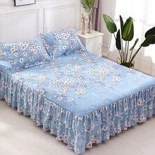 Романтическая двухслойная кровать юбка утолщенная шлифовальная покрывало простыня мягкая Нескользящая постельное покрывало