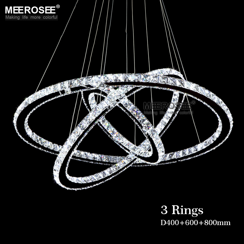 Hot Selling 3 Diamond Ring Pendant Crystal Lamp Fixture LED Pendant Light suspension Modern LED Lustres Lighting Circles Lamp suoli повседневные брюки