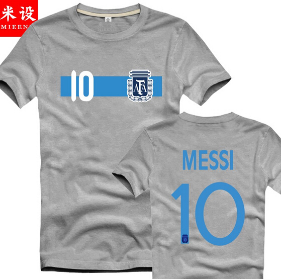 timeless design 966cd 52515 US $15.0 |Free Shipping Argentina football t shirt #10 ctrtoon MESSI  Argentina World Cup soccer jersey Classic cartoon football t shirt-in  T-Shirts ...