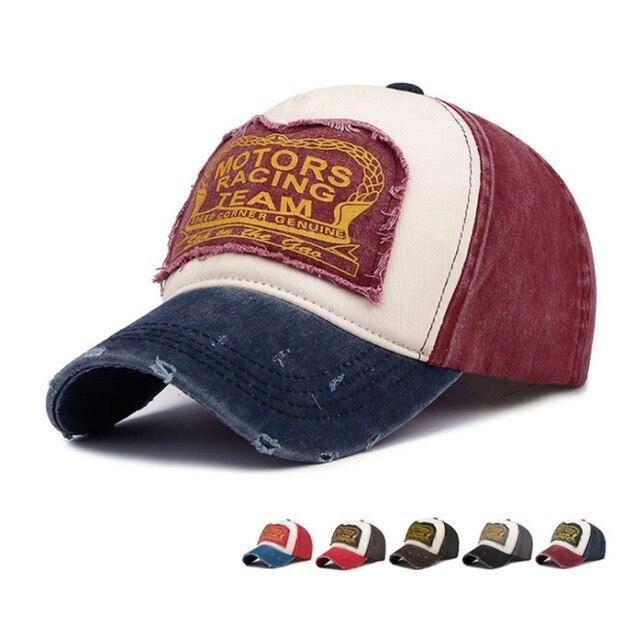 Yo-Homens Jovens Motor Racing TEAM Bonés de Beisebol do Snapback do Boné de Beisebol Do Vintage de Alta Qualidade de Algodão Summer & Autumn Unisex chapéus