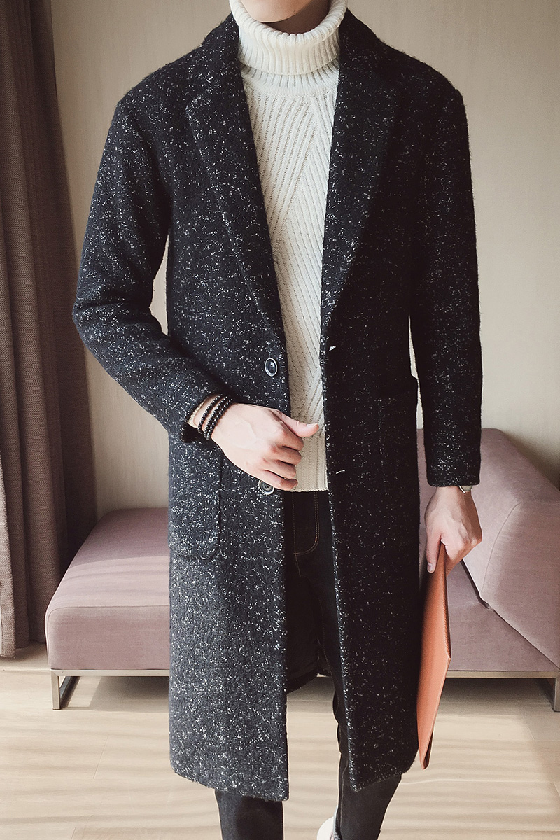 Aliexpress.com : Buy 2017 Green Long Woolen Coats Mens Overcoats ...