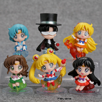 Figuras/llaveros 6 unidades de Sailor Moon Sailor Moon