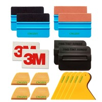 3M Felt Wool Squeegee Scraper 3D Carbon Fiber Vinyl Vehicle Glass Protective Car Styling Window Tint