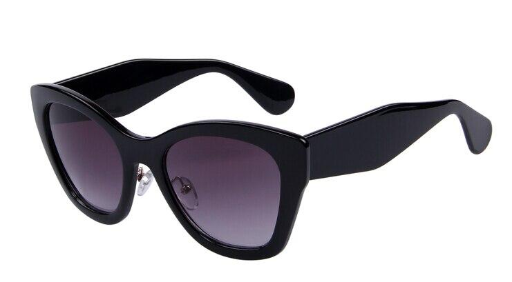 Бренд MERRY'S Butterfly очки модные солнцезащитные очки женские солнцезащитные очки «кошачий глаз» высокое качество Oculos UV400 - Цвет линз: C01 Black