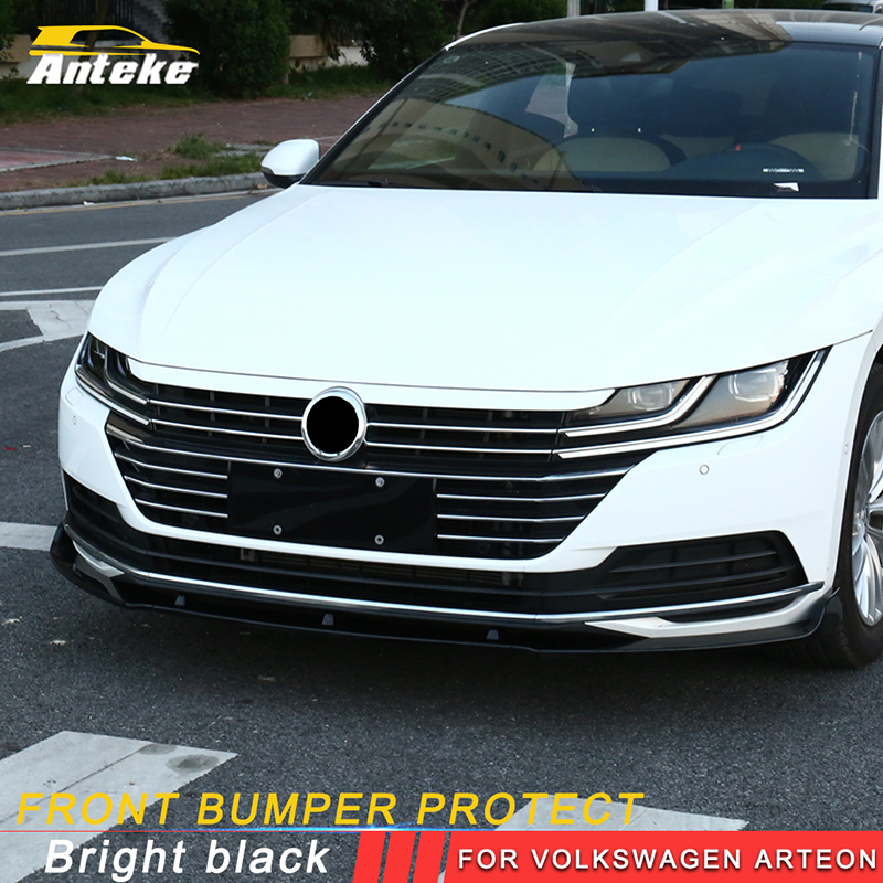 ANTEKE ABS Front Bumper protect for Volkswagen Arteon 2018 special accessoriesANTEKE ABS Front Bumper protect for Volkswagen Arteon 2018 special accessories