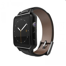 FineFun Smart Watch A8 Bluetooth Heart Rate Reloj Inteligente Leather Strap NFC Camera Curved Surface for Android iOS Smartphone