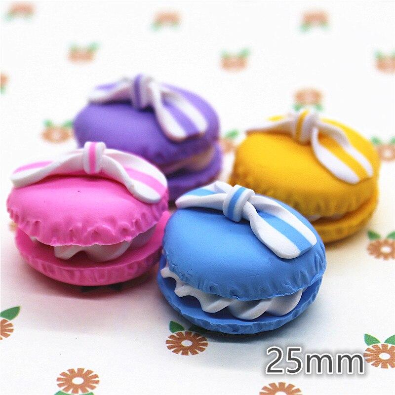 5X Garden Craft Half Round Macarons Fairy Ornament Miniature Dollhouse Decor