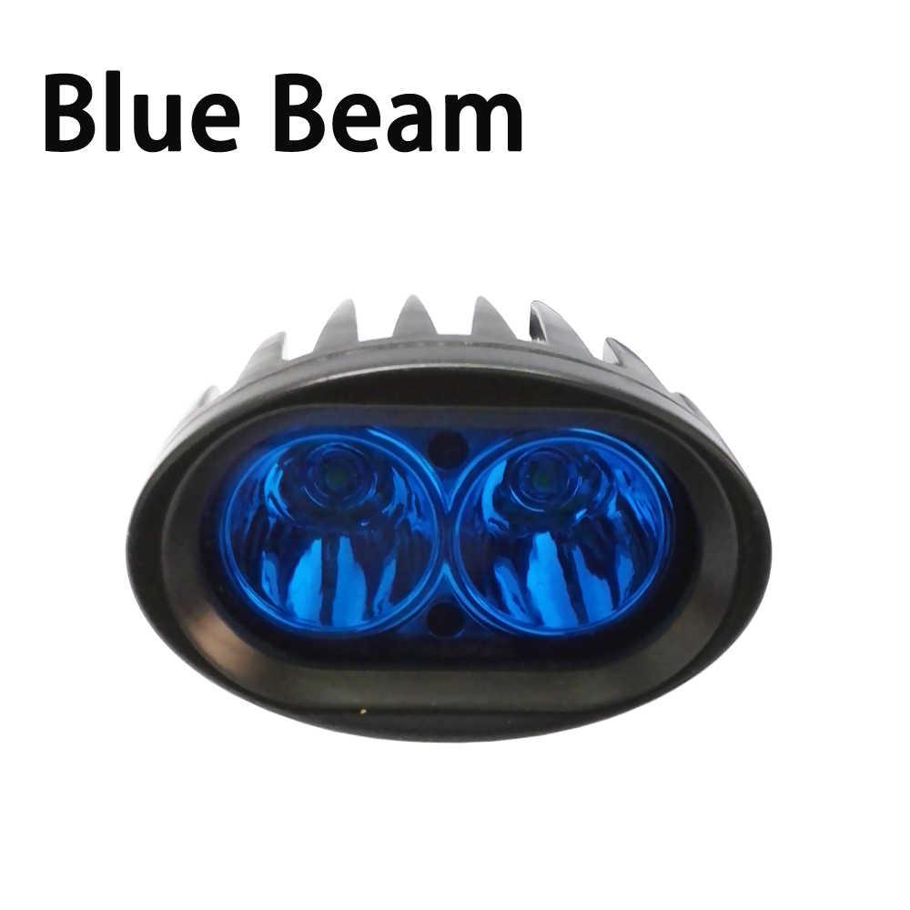 ECAHAYAKU 3 дюймов 2 шт. 20 Вт 6000K светодиодный точечный луч вилочного погрузчика белый красный цвет желтый, синий; размеры 34–43 Предупреждение Лампа безопасности свет работы 10-48 В постоянного тока