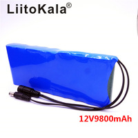 Liitokala 12V 9800Mah battery pack Portable Super Rechargeable Lithium Ion capacity Cam Monitor including
