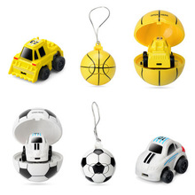 Football Cartoon Mini Remote Control Vehicle 2.4G New Q Edition Two-way Childrens  Toys for Children