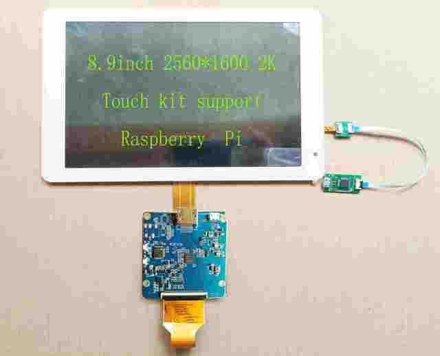8 9 polegada 2 K HDMI IPS Exibição 2560*1600 MIPI LCD Com Placa de  Motorista USB Apoio Toque Win7 8 raspberry Pi 10 3