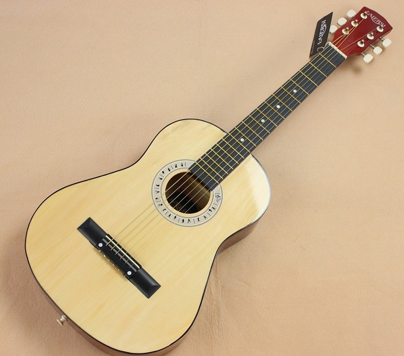 Hot 34 Acoustic guitar 34-1 wood color guitarra Musical Instruments with guitar strings high quality 38 acoustic guitar 38 18 high quality guitarra musical instruments with guitar strings