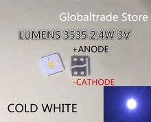 700 قطعة لومينز LED الخلفية الوجه رقاقة LED 2.4 واط 3 فولت 3535 كول الأبيض 153LM LCD الخلفية لتطبيق التلفزيون التلفزيون
