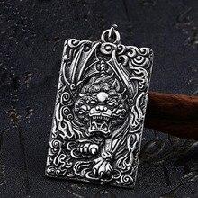 6a08f3566ba8 SKA hombres colgante 2019 más nuevo collar amuleto colgantes para hombres  caliente étnicos Kylin de acero de titanio chino perso.