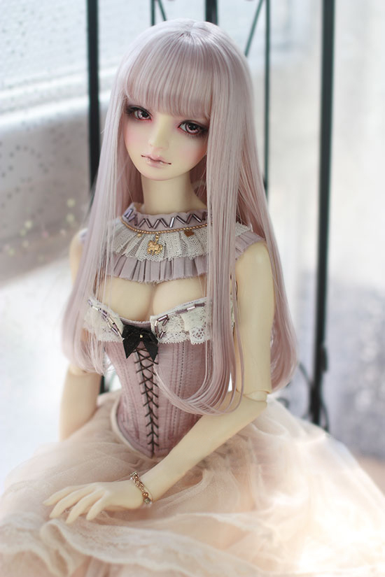 BJD Doll Wigs Lavender Light Golden Brown  High-temperature Wire Air Bang Long Wigs For 1/3 1/4 1/6 BJD DD SD MDD YOSD Doll