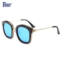 FOENIXSONG Marca de Moda Las Gafas de Sol Gafas Unisex Gafas de Marco Negro gafas de Sol de la Señora Gafas gafas de Sol Mujer