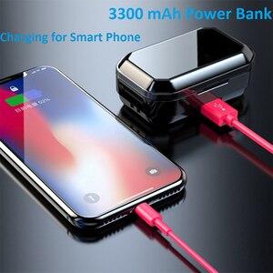 Image 4 - G02 TWS Bluetooth אוזניות 5.0 אלחוטי Bluetooth אוזניות 9D סטריאו מוסיקה אוזניות מגע בקרת LED תצוגת 3300mAh כוח בנק