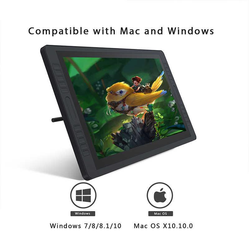 HUION KAMVAS GT-221 Pro 8192 niveles pluma pantalla dibujo tableta Monitor IPS LCD HD pantalla 10 teclas de prensa-21,5 pulgadas