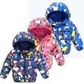 Impressão de alta qualidade Da Moda Meninos Jaqueta de Inverno do filhote de cachorro Roupa Nova Meninos Roupas de cores Doces Meninas Roupas jaqueta de Inverno