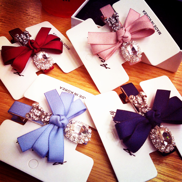 Korea Hair Accessories Fllower Bear butterfly Hair Clips For Women Crystal Haar Accessoires Hair Bows Hairpins Barrette 4 retro vintage women ladies girls hair clips crystal butterfly bowknot hairpins hair accessories