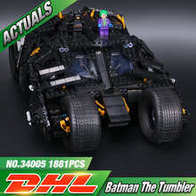New Decool 7111 1869Pcs Super Hero The Tumbler Model Building Kits Minifigure Joker Batman Blocks Bricks
