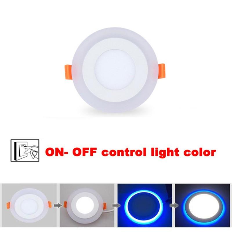 Dual Color 3 Models Panel Downlight 6