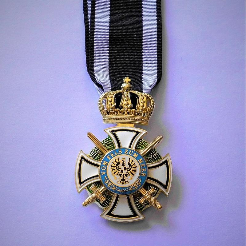 Топ Hohenzollern Orden mit Schwerten vom Fels zum Meer Preussen Mehrteilig