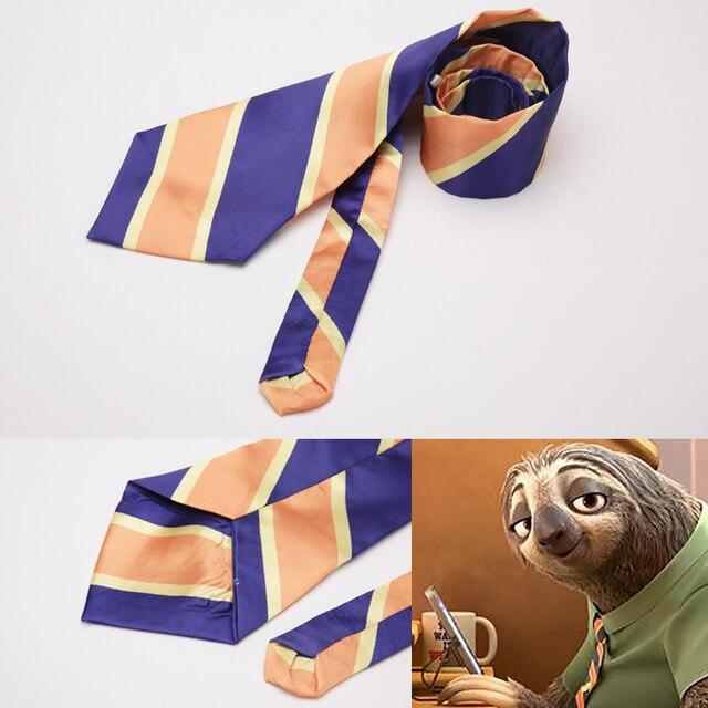 Movie Zootopia Cosplay costume DMV worker Sloths Flash cosplay accessory Flash  Zootopia Halloween costumes Men Tie fa0b044519