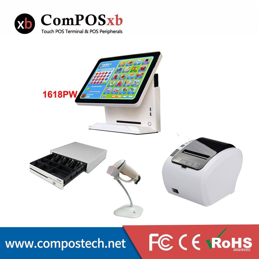 Système de Point de vente Windows 7 Version d'essai écran tactile LCD TFT 5 pouces tout en un Pc de position pour Restaurant